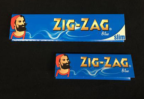 Zig-Zag Blue Hemp & Flax Rolling Papers