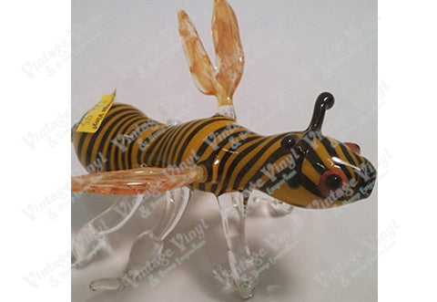 Custom Black Yellow And Clear Bee Pipe