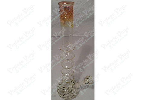 "20"" Tall Fumed Top Gripper Tube w/ Glass on Glass Bowl"
