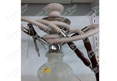 Frosted White Double Hose Hookah