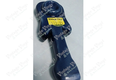 Blue Guitar Shaped Ceramic Pipe
