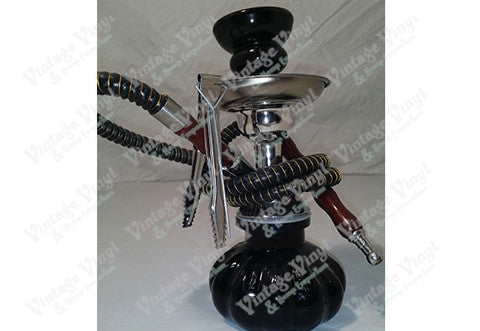 Black and Gold Striped Single Hose Hookah