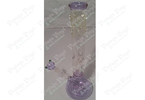 Tinted Single Tree Perculator Tube w/ Ice Catcher and Glass on Glass Bowl