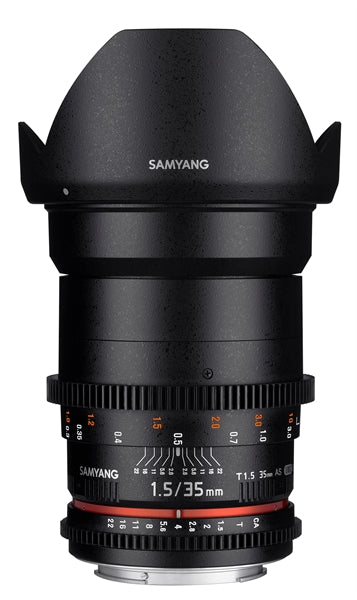 Samyang 35mm T1.5 VDSLR AS UMC II Various Brands