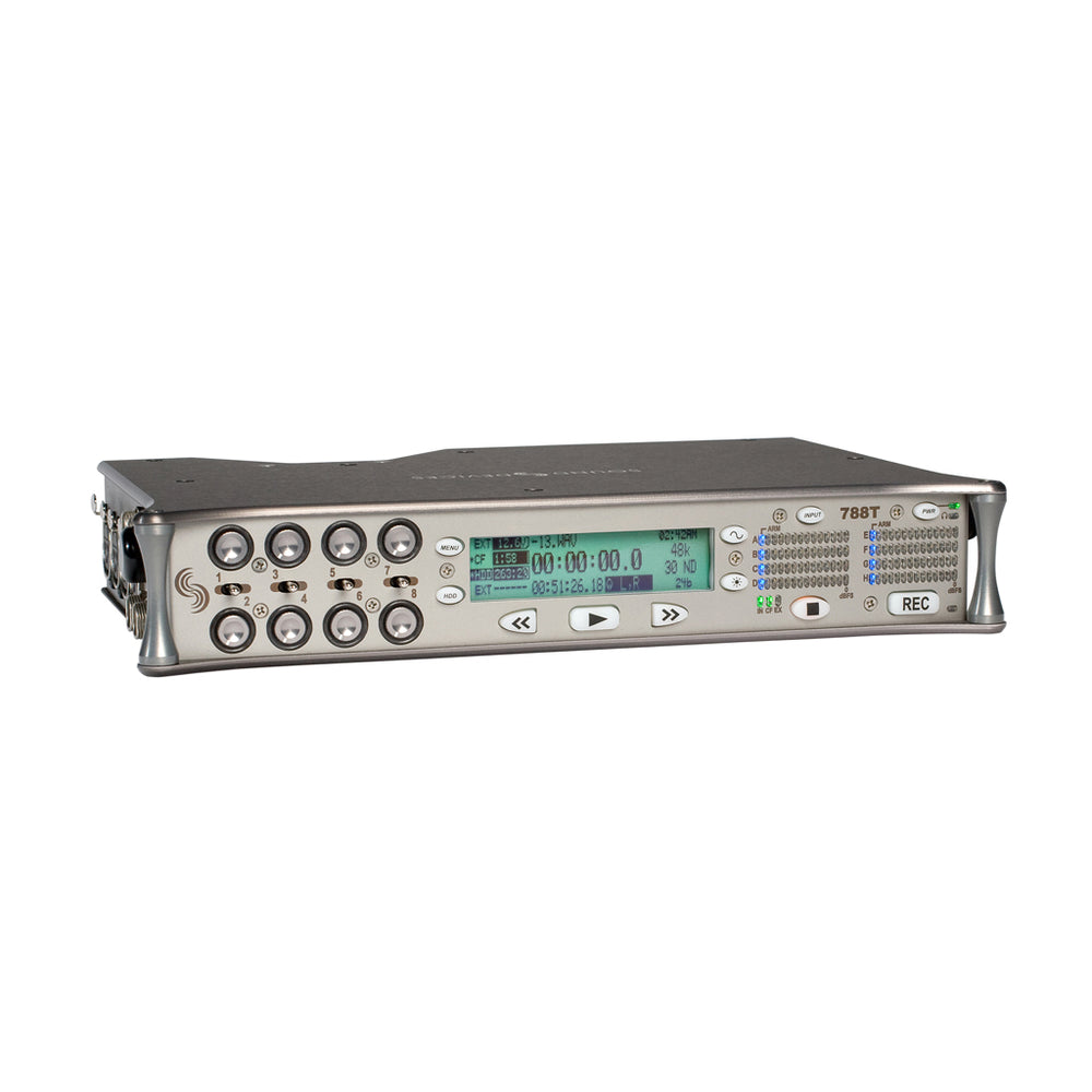 Sound Devices 788t (SSD) - Portable 8-kanaals recorder met tijdcode