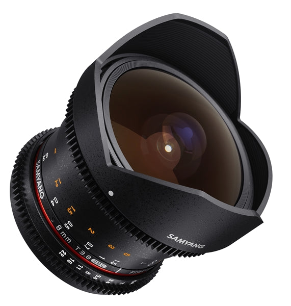 Samyang 8mm T3.8 UMC VDSLR fisheye CSII Various Brands
