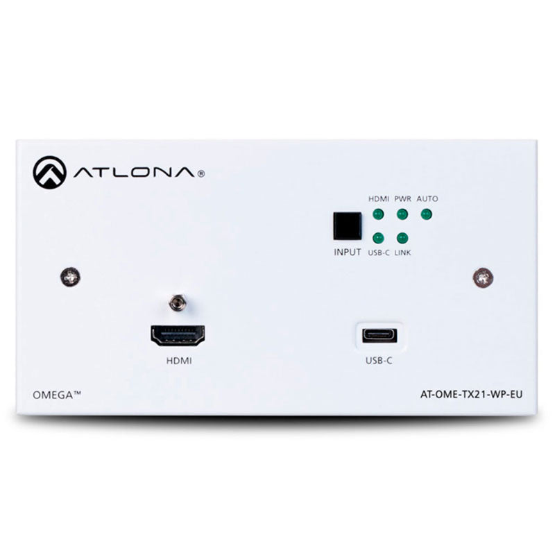 Atlona AT-OME-TX21-WP-E Omega HDMI transmitter wall plate