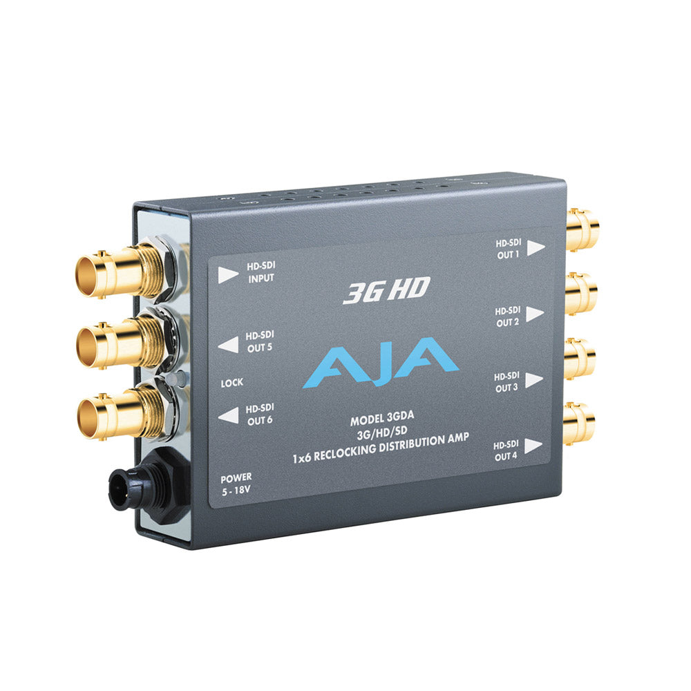 AJA 3GDA 3G/HD/SD Re-clocking Distributieversterker 1x6