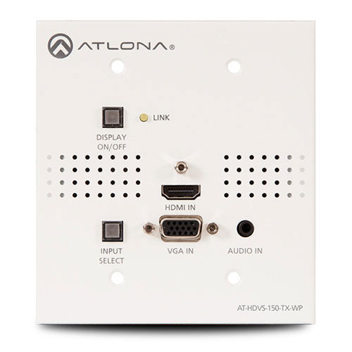 Atlona AT-HDVS-150-TX-WP (AT1088) Wallplate Switcher HDMI en VGA met HDBaseT Output