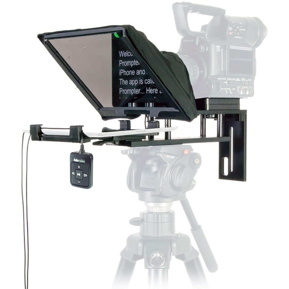 Datavideo TP-300 Prompter incl. WR-500 Bluetooth remote Verhuur