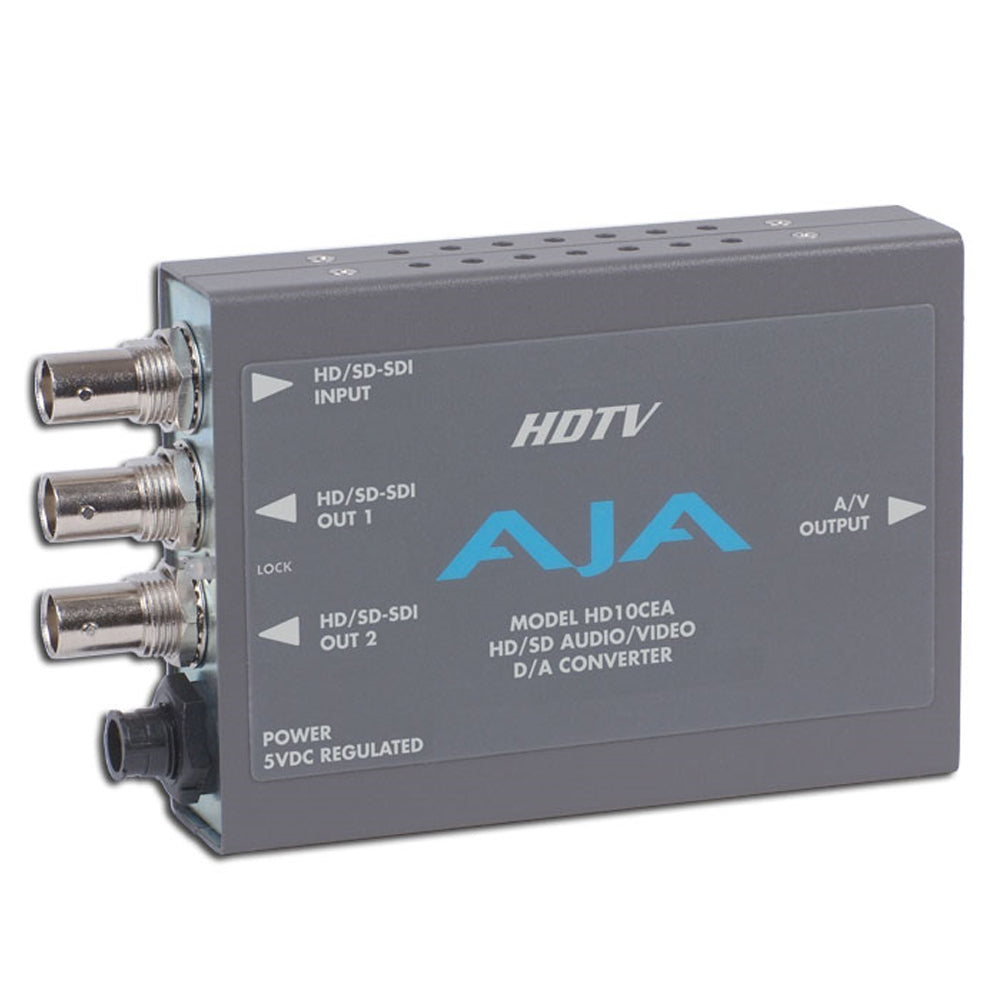 AJA HD10CEA HD/SD-SDI met Embedded Audio naar Analoge Audio/Video Converter