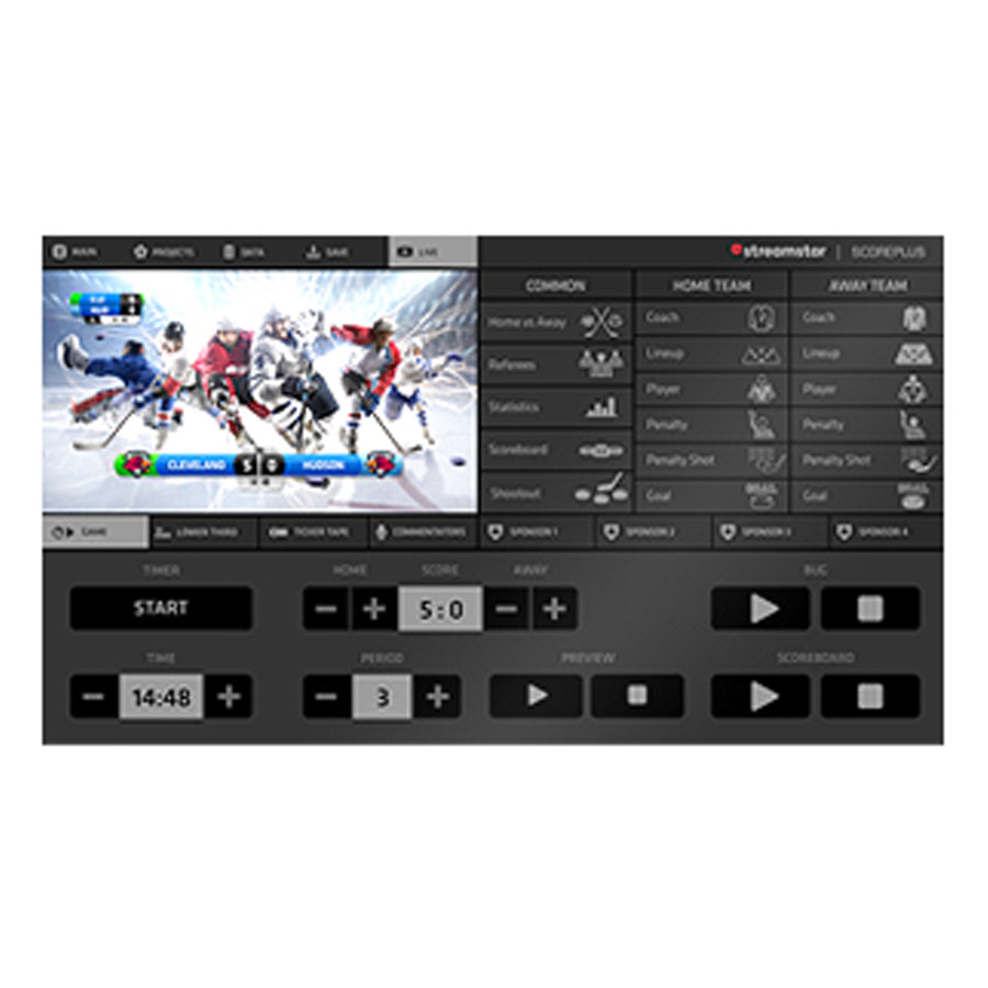 JVC Streamstar Scoreplus Software Module voor Ijshockey