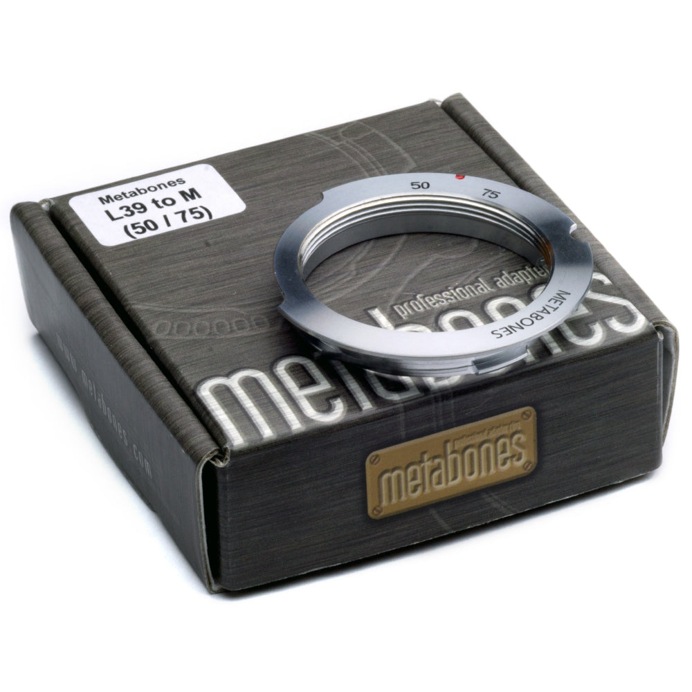 Metabones L39 Screw Mount to Leica M (50/75 mm) met 6-bit Adapter