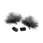 Rycote Grey Ristretto Lavalier Windjammer - pair