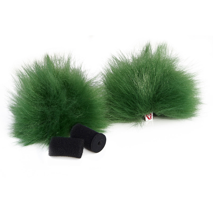 Rycote Green Lavalier Windjammer - pair