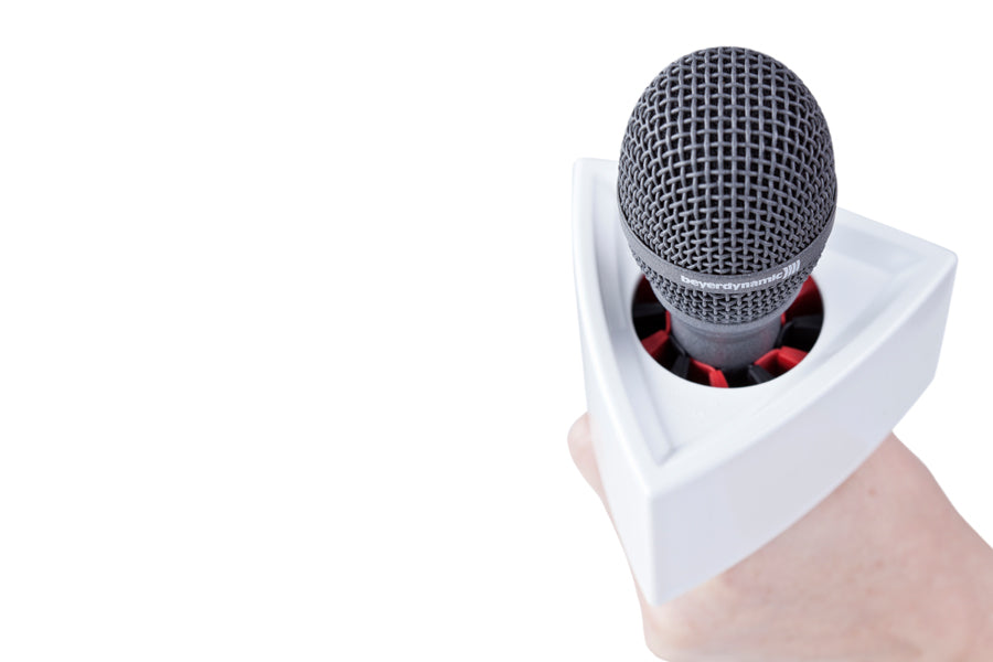 Rycote Triangular White Mic Flag