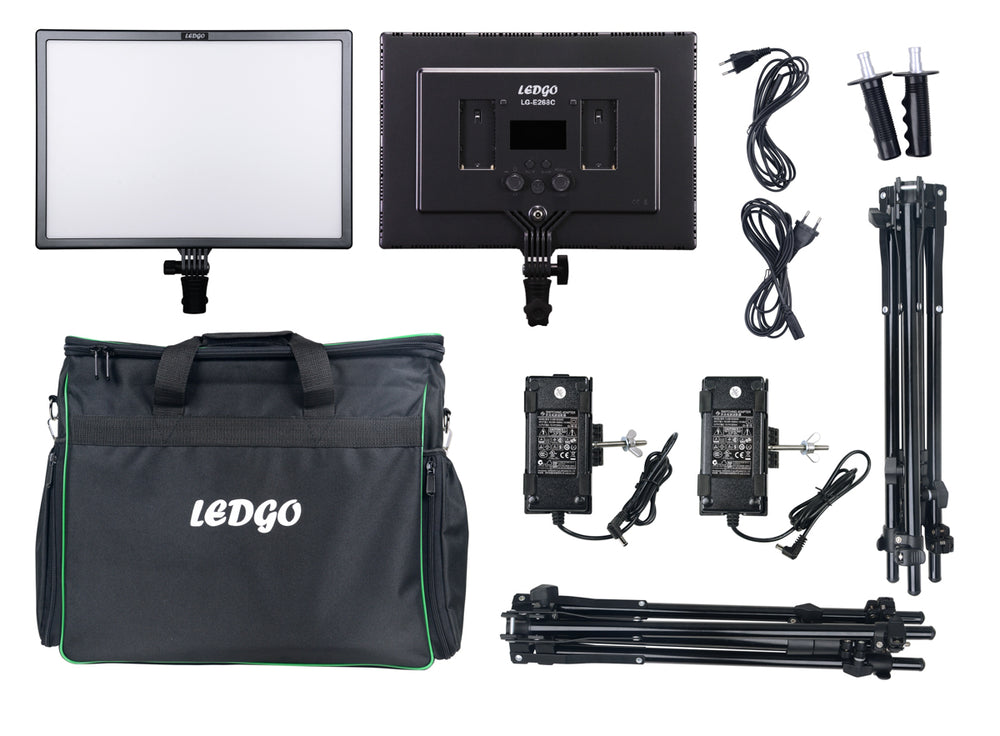 Ledgo LG-E268CII Bi-Color 2 LED Light Kit