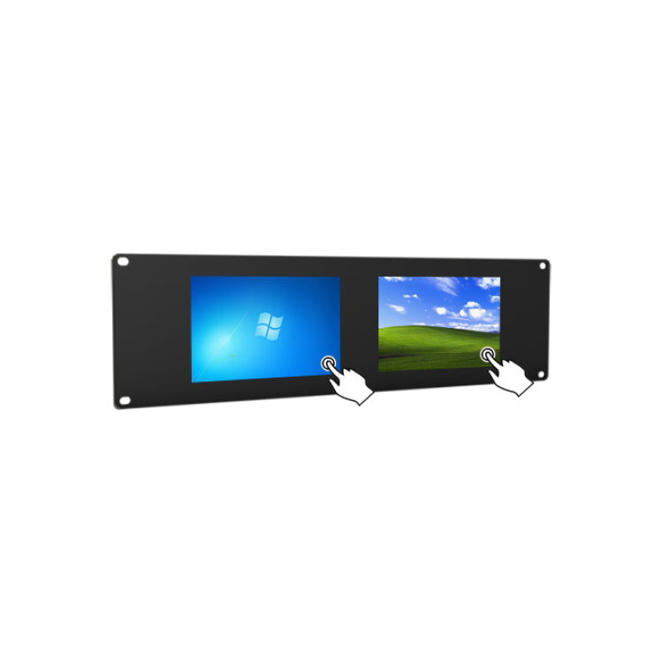 Lilliput RM-669/T 4U HDMI Dual Rackmount Touchscreen Monitors