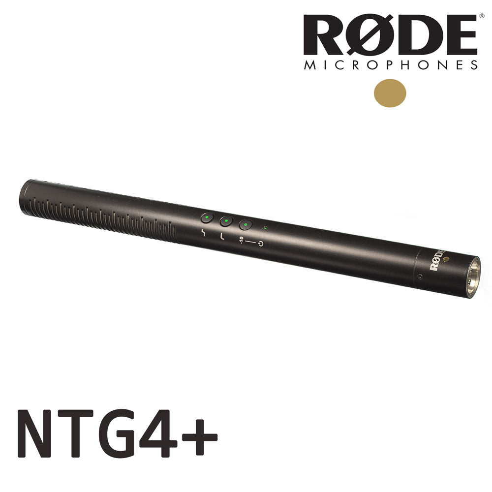 Rode NTG-4+ Shotgun Microphone with Digital Switches and Built-In Rechargeable Battery
