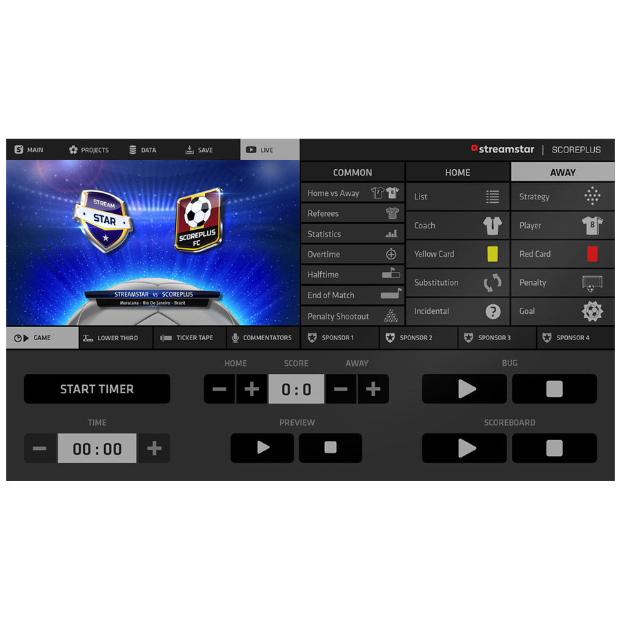 JVC Streamstar Scoreplus Software Module voor Voetbal