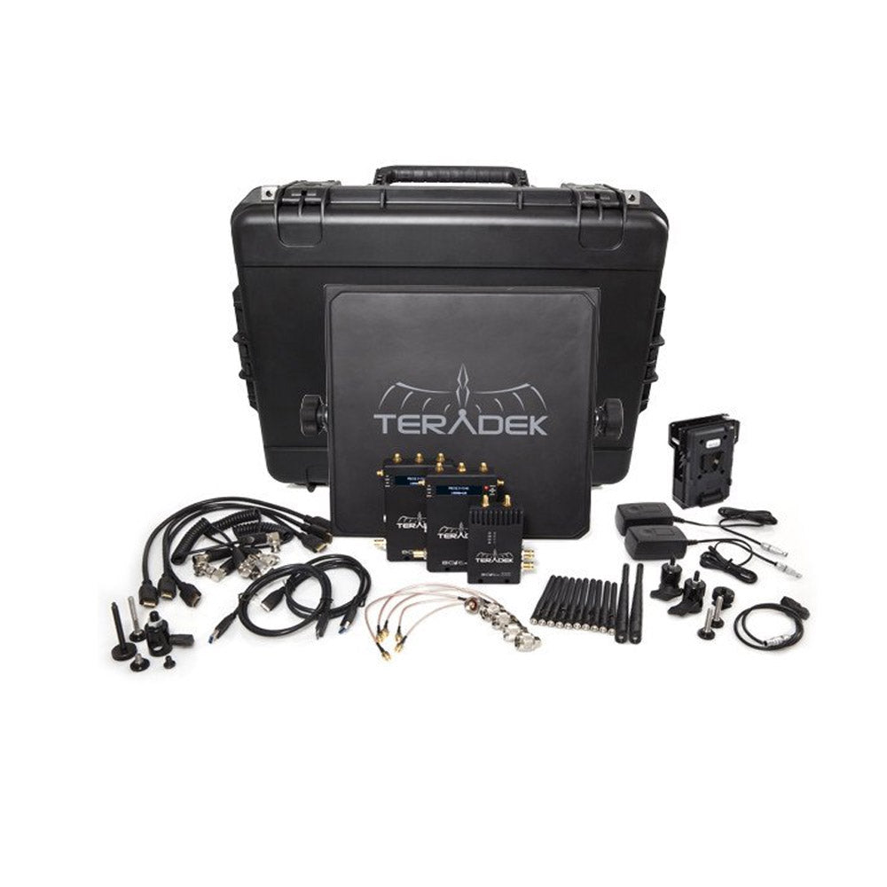 Teradek Bolt Pro 2000 HD-SDI / HDMI Wireless Video TX / 2RX Deluxe Kit with V Mount