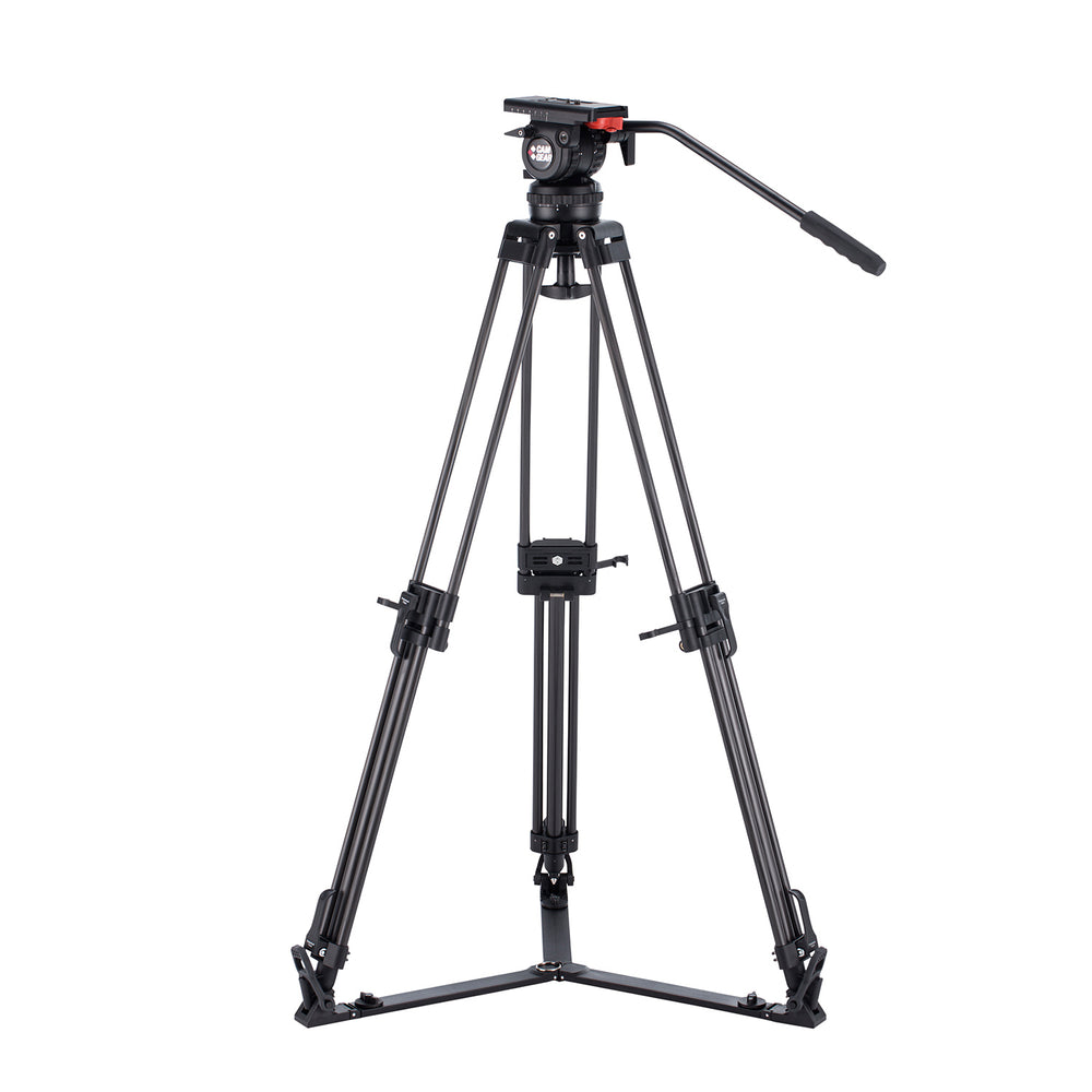 Camgear V10 Carbon Fiber Tripod Systeem met Ground Spreader