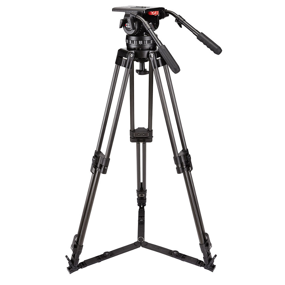 Camgear V35P Carbon Fiber EFP Tripod Systeem met Ground Spreader