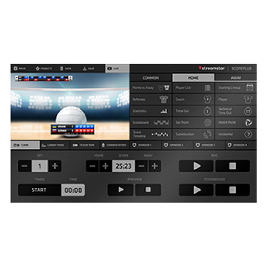 JVC Streamstar Scoreplus Software Module voor Volleybal