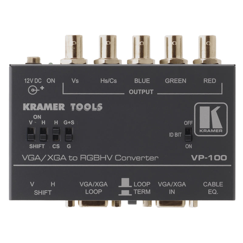Kramer VP-100 Computer Graphics Video naar RGBHV Format Converter