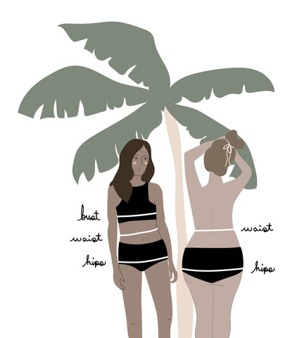 Size chart swimwear online boutique by Mimi & August