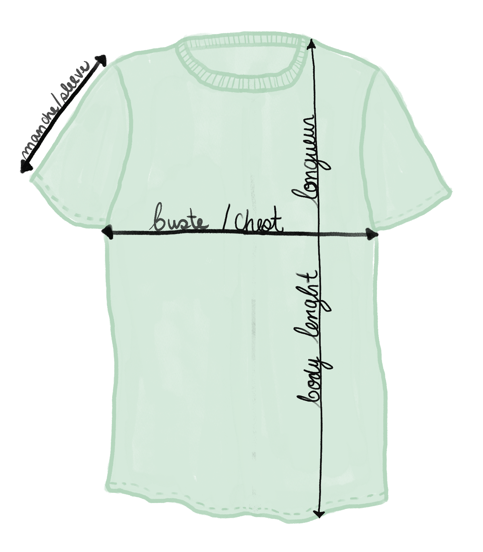 t-shirt size chart mimi & august