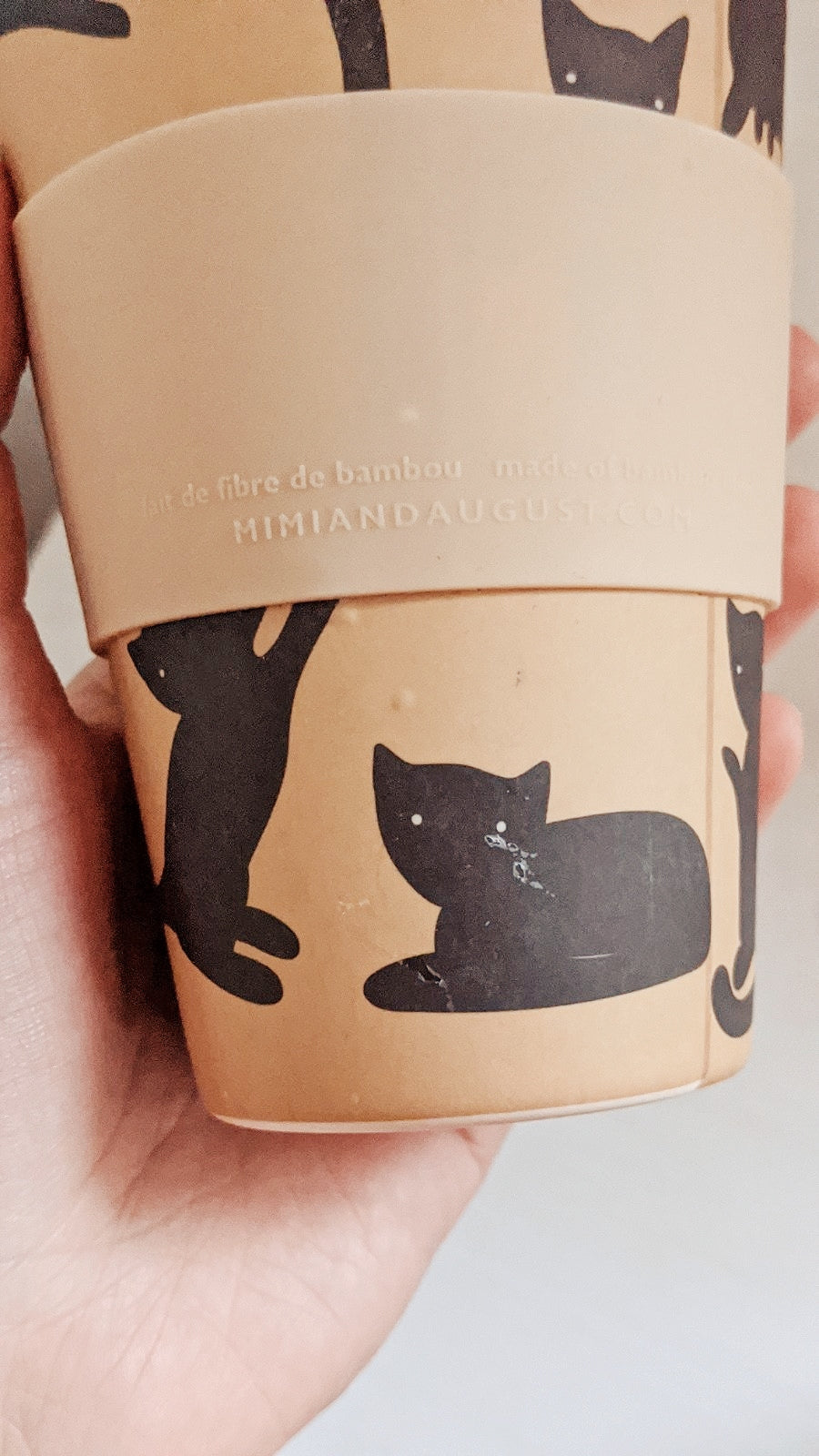Pepito reusable coffee cup defect by mimi & august