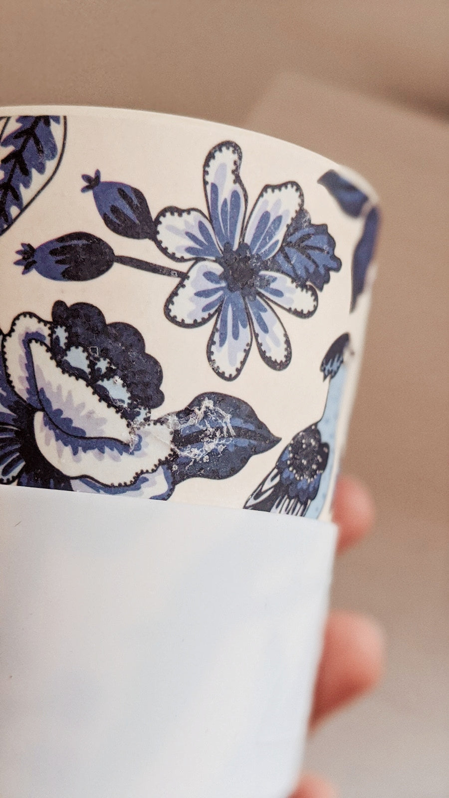 Boho reusable coffee cup defect by mimi & august