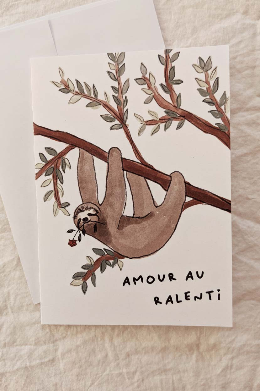 Amour au ralenti | Beautiful Greeting Card by Mimi and august