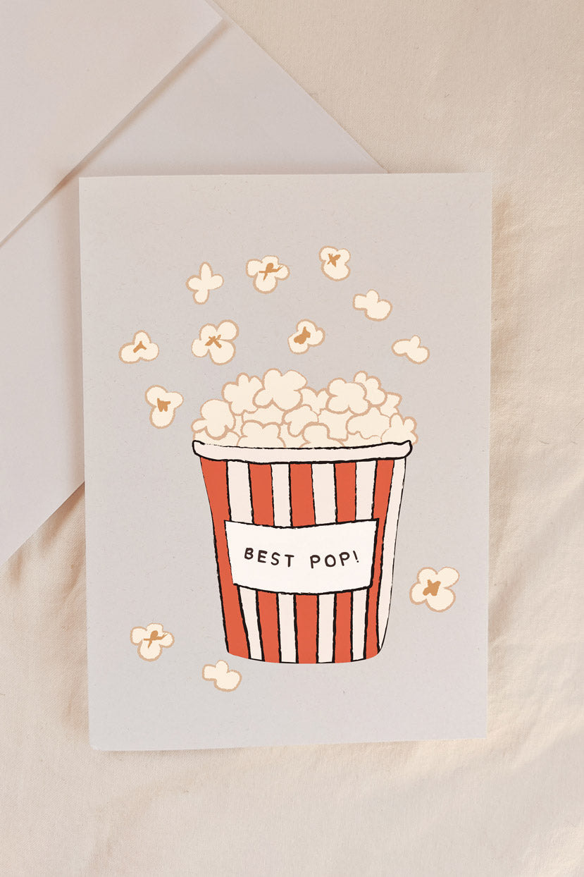 Best Pop Corn Beautiful Greeting Card by Mimi & august