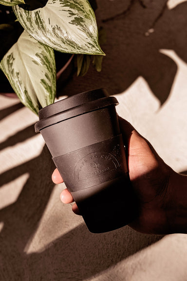 Beautiful Black Matte Reusable Bamboo Café Yo Cup mimi & august