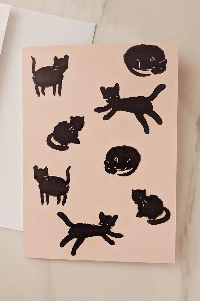 Black Cats | Beautiful Greeting Card by Mimi & august