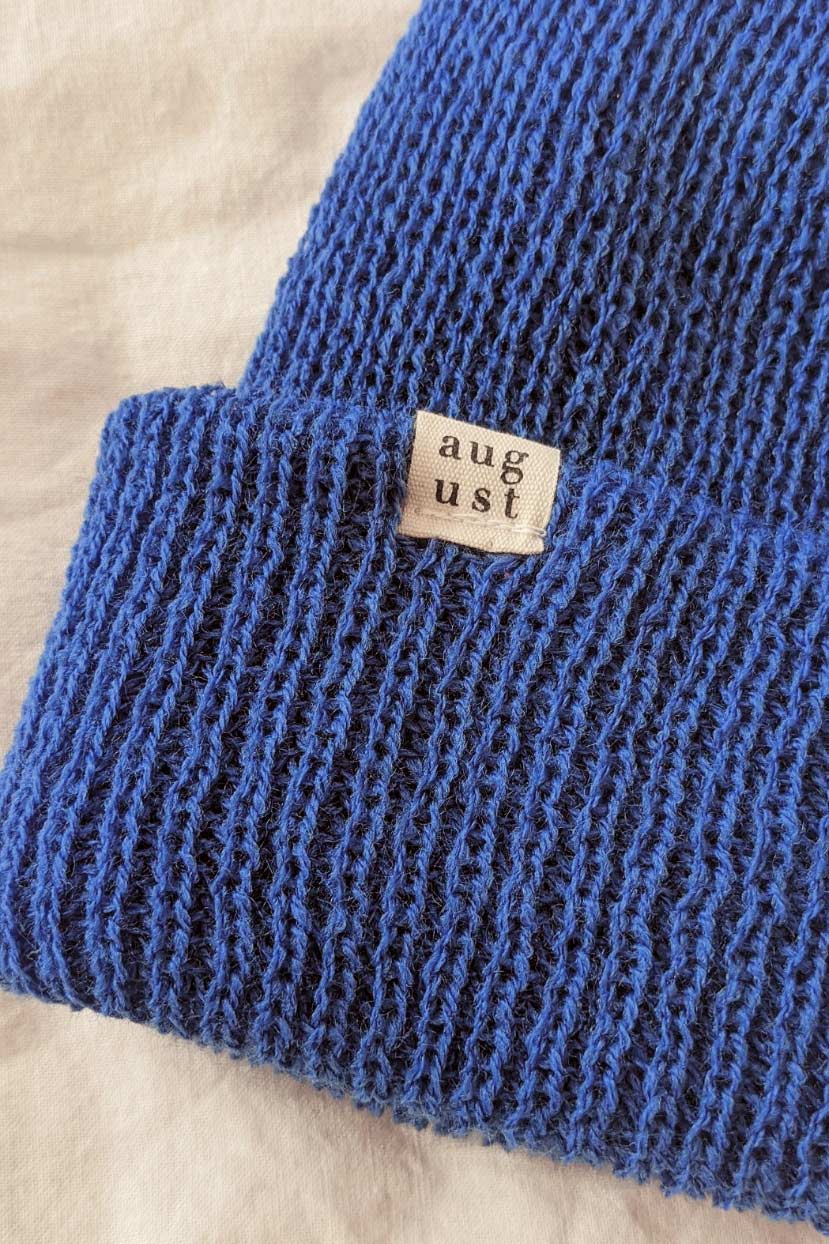 Blue Beanie Hat Toque Made by Mimi & August