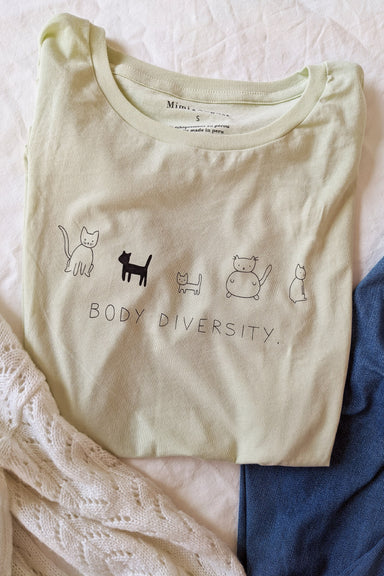 "T-shirt ""Body diversity"" pistache par mimi & august"