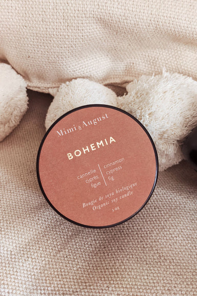 Bohemia - scented soy wax mini candle 2oz made in canada Mimi & August