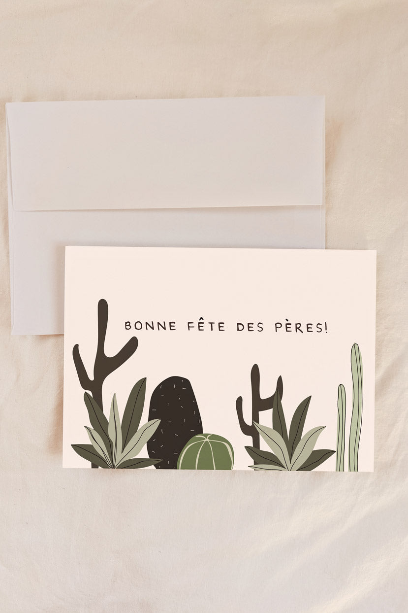 Bonne fête des pères cactus Beautiful Greeting Card by Mimi & august