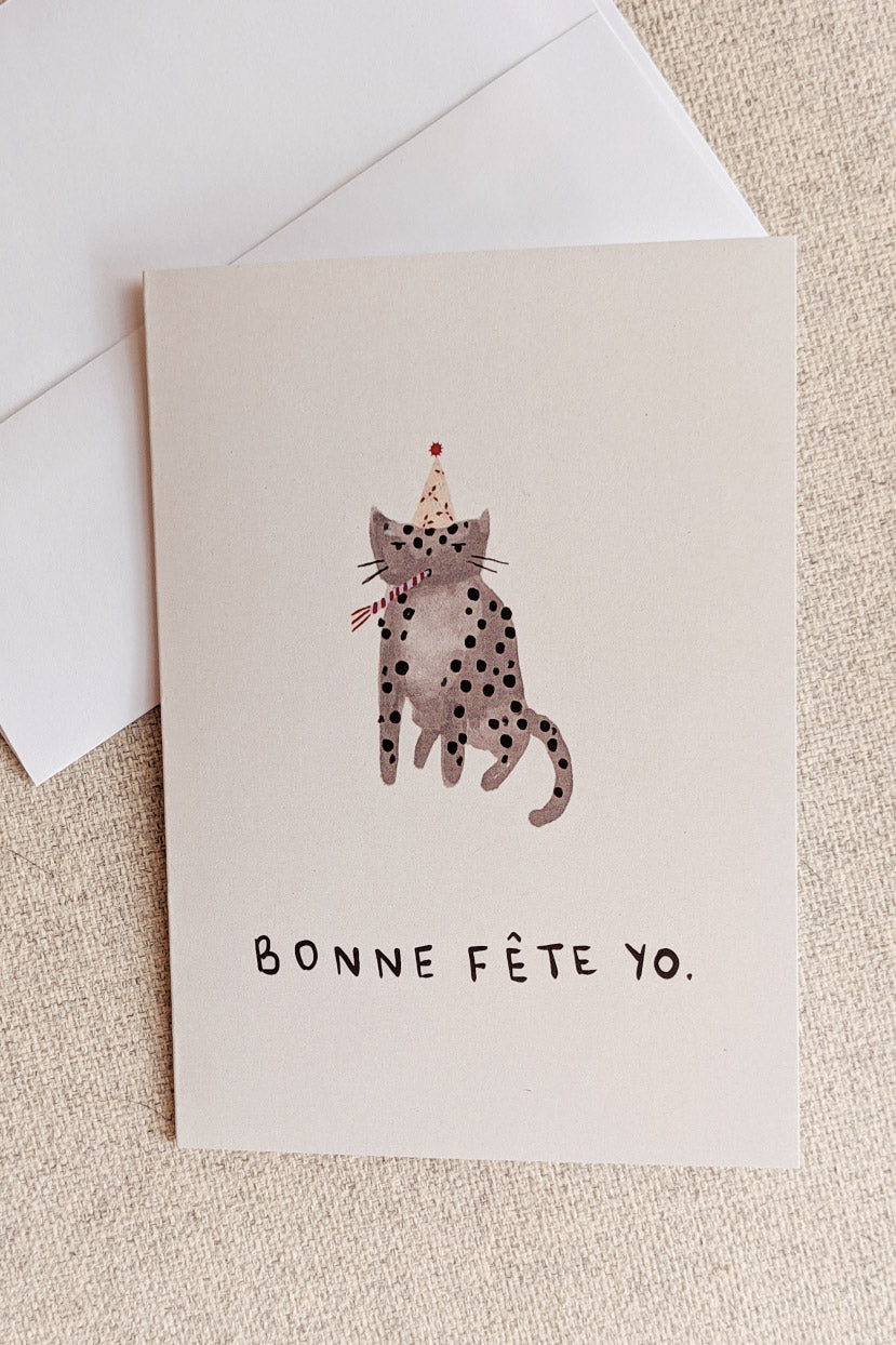 Bonne Fete Yo | Beautiful Greeting Card by Mimi & august