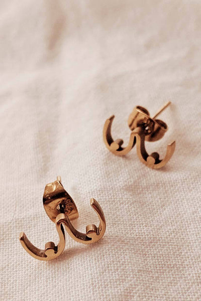 Boobs - High Quality Gold Earrings by Mimi & August