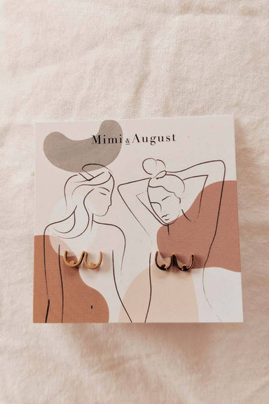 Women boobs gold earrings by mimi & august