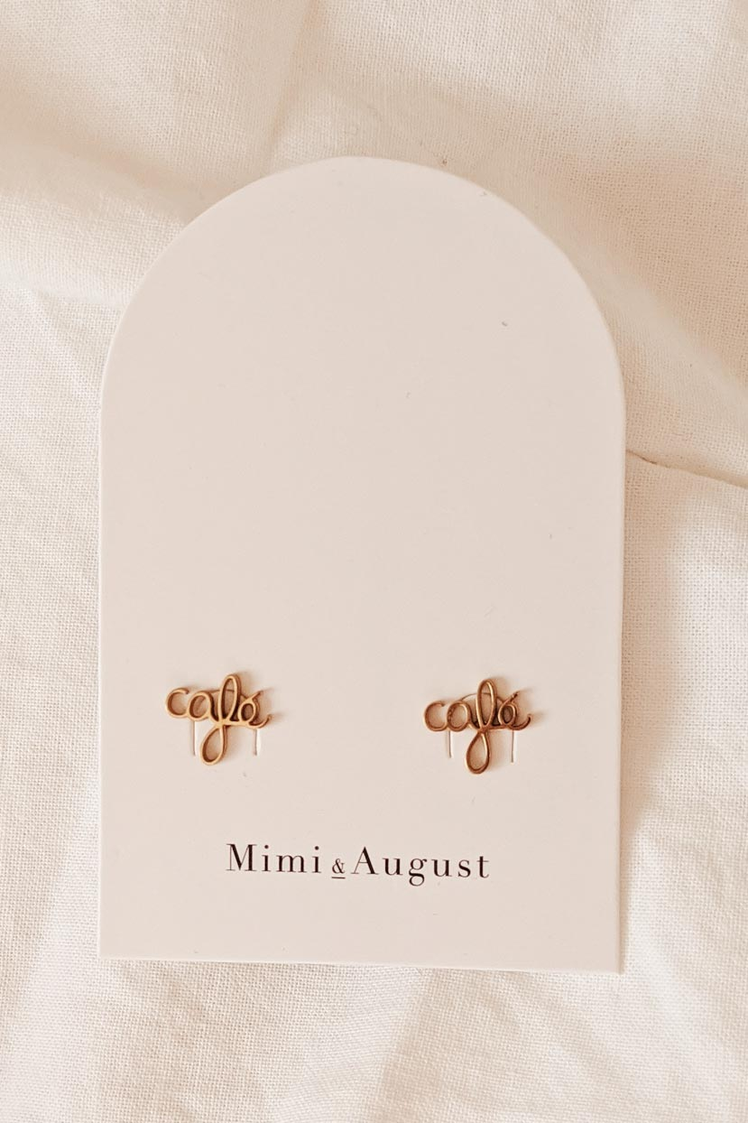 Cafe Cafe - High Quality Gold Earrings by Mimi & August
