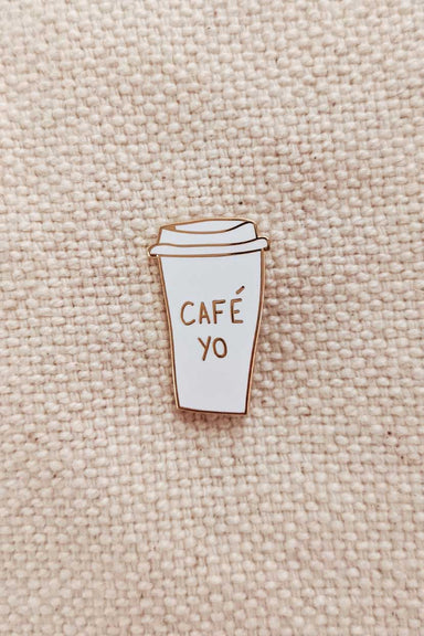 Cafe Yo Enamel Lapel Pin by mimi & august