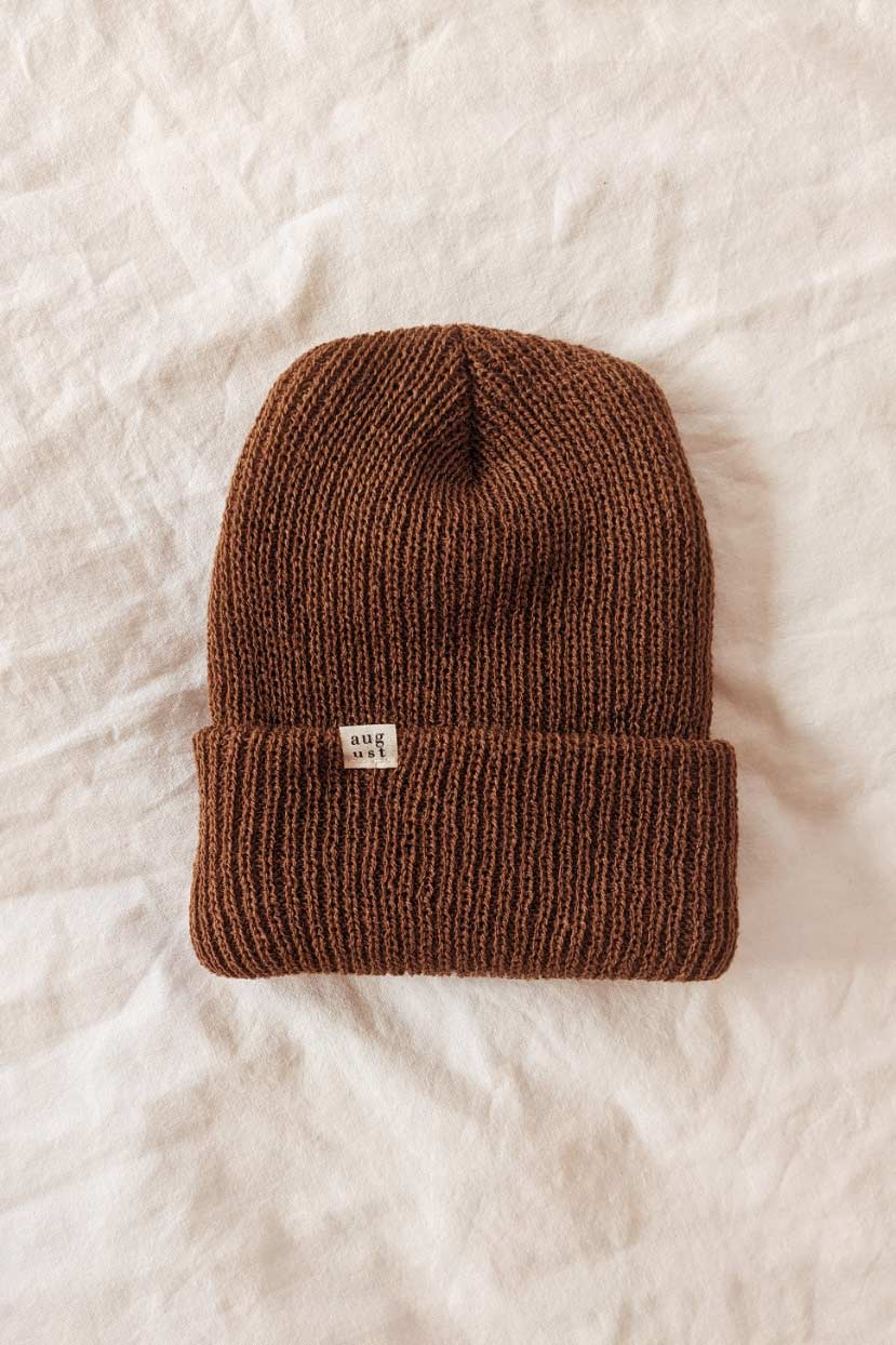 Chesnut Watch Cap Knit Winter by Mimi & August