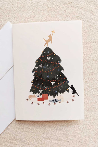 Christmas Tree Beautiful Greeting Card by Mimi & august