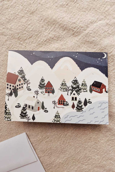 Christmas Village Beautiful Greeting Card by Mimi & august