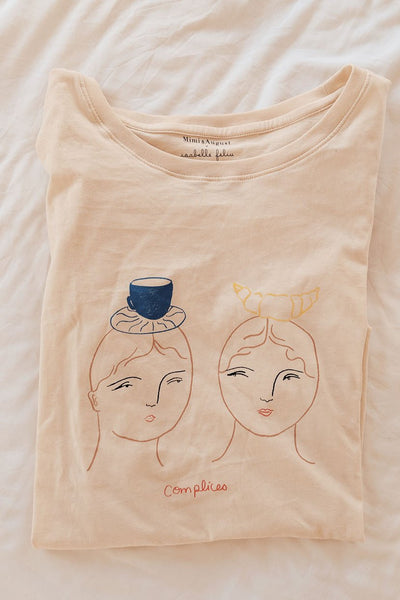 Complices Tee Ethical T-shirt by Isabelle Feliu x Mimi & August